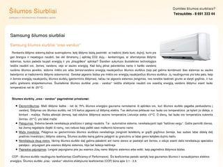 Samsung šilumos siurbliai