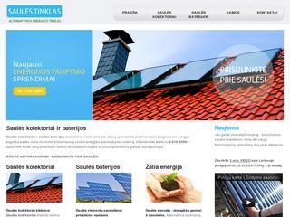 Saulės kolektoriai ir baterijos