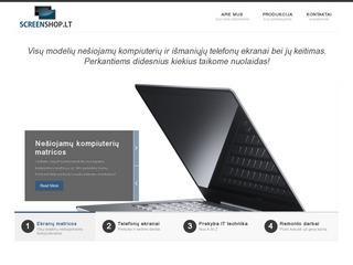 Screenshop.lt – nešiojamų kompiuterių ekranų matricos