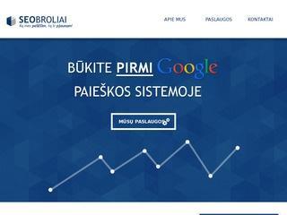 SEOBROLIAI SEO PASLAUGOS Google OPTIMIZACIJA Kaune Vilniuje