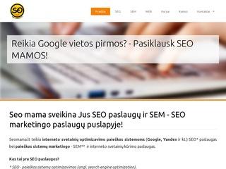 SEO MAMA SEO paslaugos – interneto svetainių optimizavimas