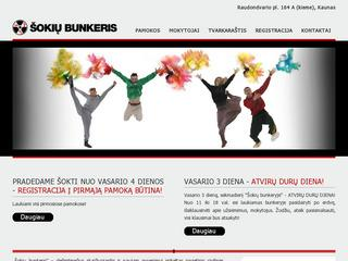 "Hip Hop, House, Popping, Waacking, Break dance, Zumba, Šiuolaikinis šokis.""Šokių bunkeris"""