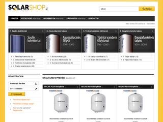 """Saulės bei vakuumių kolektorių e-parduotuvė """"SolarShop"""""""