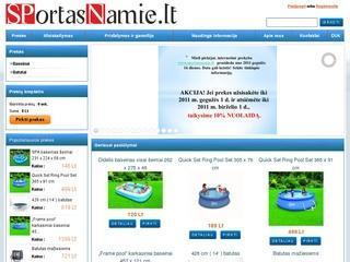Interneto parduotuvė www.sportasnamie.lt