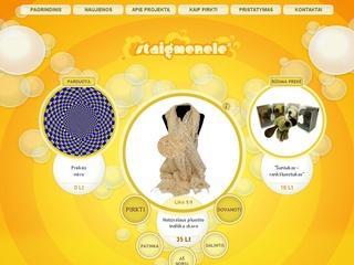 Ypatingas internetinių pardavimų tinklalapis – Staigmenele.
