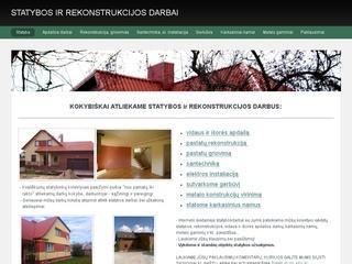 Statybos ir rekonstrukcijos darbai