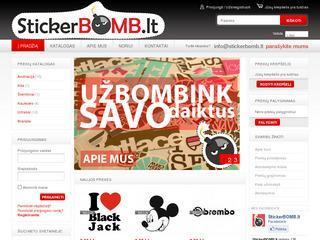 StickerBOMB.Lt – lipdukų internetinė parduotuvė