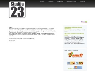 """Garso įrašų studija """"Studija 23″"""