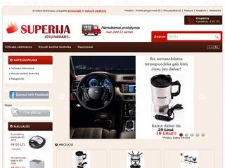 SUPERIJA – Virtuvės reikmenų ir smulkios buitinės technikos elektroninė parduotuvė
