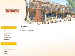 Titanikas, pramogų centras – viešbutis.