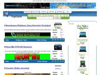 TopOaze – svetainių katalogas, reitingai