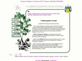 Vambutų giminės genealogija