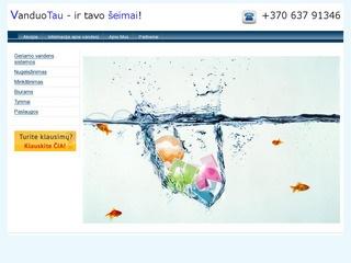 Vandens valymo sistemų, montavimas, priežiūra.
