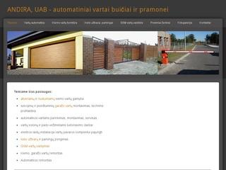ANDIRA, UAB – automatiniai vartai buičiai ir pramonei