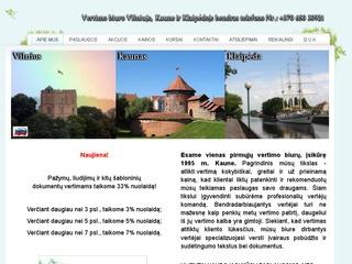 Vertimų biuras Vilniuje, Kaune ir Klaipėdoje