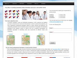 Vertimų biuras/Translation Services Vilnius
