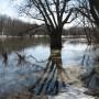 Upė ankstyvą pavasarį